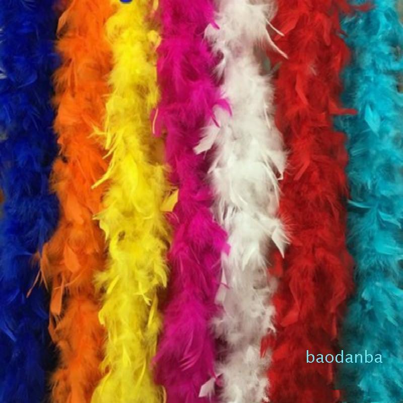 2021 di vendita caldi multipla Marabù colori Boa di piume per il partito del vestito operato Burlesque Boas spedizione gratuita