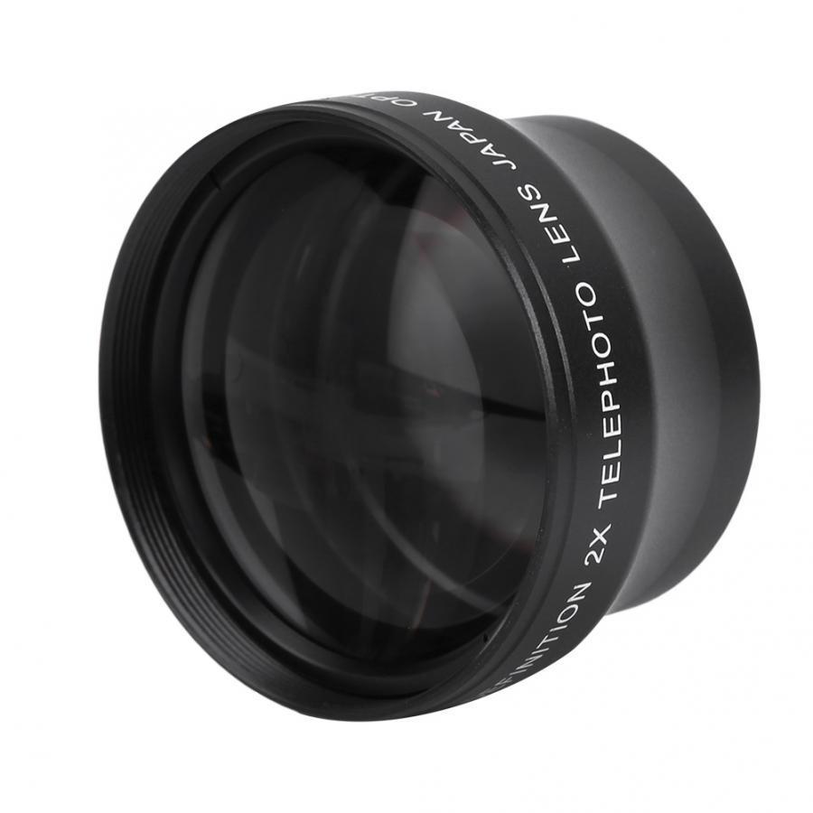 Magnification High Definition Converter Telephoto Lens for 37mm 18-55 Focal Length Mount Camera Tele Photo Lens