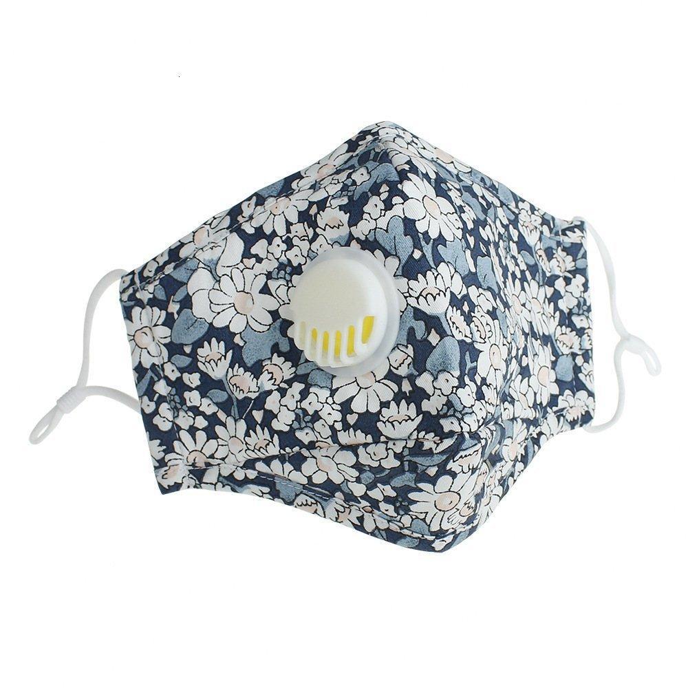 Reutilizable DHL Anti-polvo máscara máscaras PM2,5 protectora de la válvula de algodón tela de cara lavables Mans Womans Dhb33 Su4t #