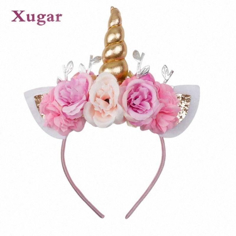 Xugar Accessori per capelli Unicorn Horn Hairband per ragazze bambini del capretto festa di compleanno Arcobaleno regalo fascia di scintillio dei capelli dell'arco del cerchio eeF6 #
