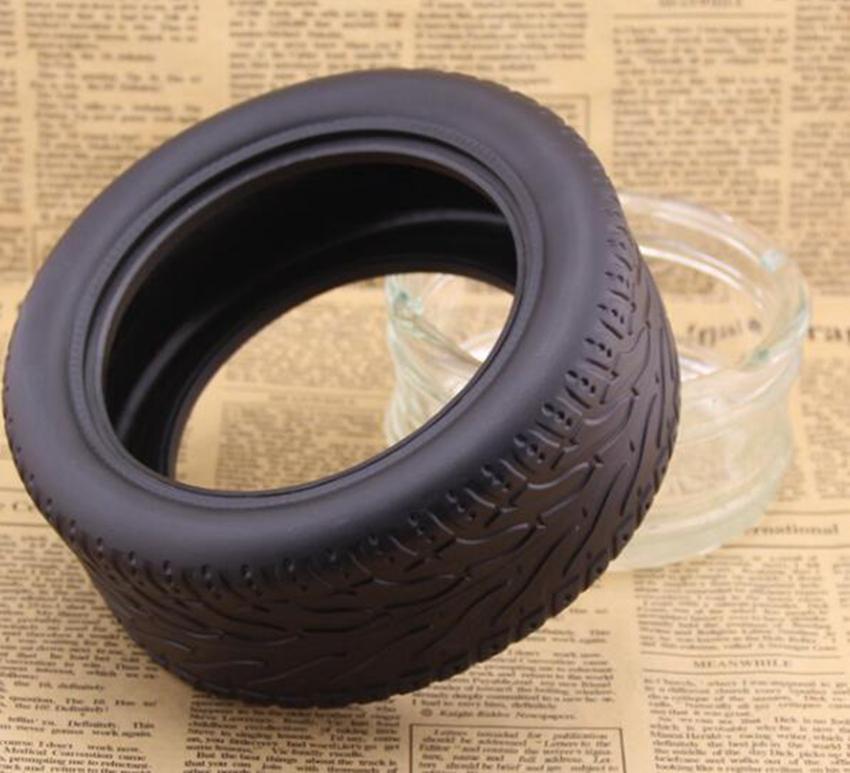 15.4 * 6cm Glas Reifen Aschenbecher Zylinder Shatterproof Zigarrengläser Aschenbecher rund Raucher Werkzeuge Gestalten Glasaschenbecher auf dem Seeweg GGA3718