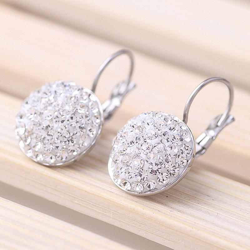 2020 Fashion Persönlichkeit Schmuck Kristall aus Swarovskis einfache Titan Stahl Intarsien Kristall Ohrringe Fit Frauen und weibliche