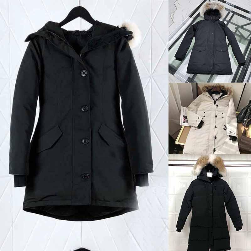neue Qualität Damen Winterjacken Wärmemantel Designer-Jacke Mäntel Weiseluxuxfrauen Unterwäsche Doudoune Femme Jacken Damen Wolf-Pelz