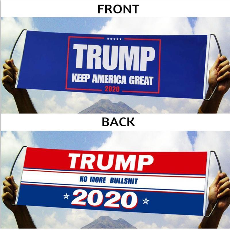 Donald Trump Flag Hand Held Trump Flag Bumper 24X70CM Keep America Great Flag Banner Trump 2020 President Election Flags