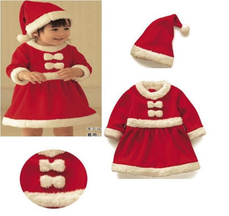 Otoño e invierno NUEVOS NIÑOS Y NIÑAS ROPA DE NAVIDAD Venta al por mayor Vestido de vestir de Santa Claus Festival para niños Vestido de fiesta GWE1794