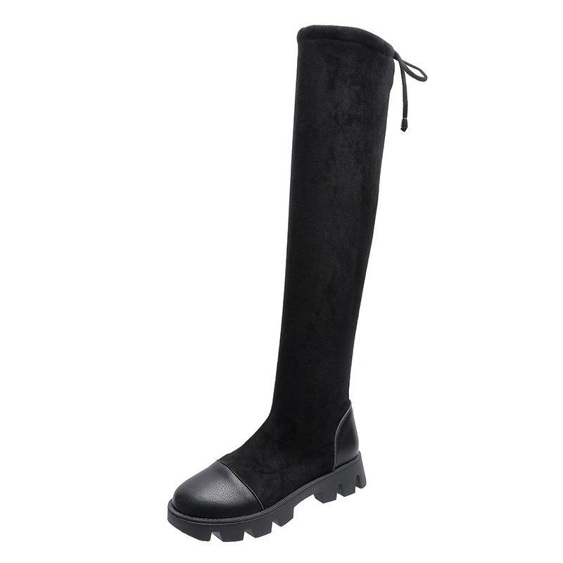 0,4 ~~ Taille hiver 35-40 Cuissardes Bottes femmes tissu extensible Cuissardes sexy Chaussures Femme longue Bota Feminina Zapatos de mujer # 66