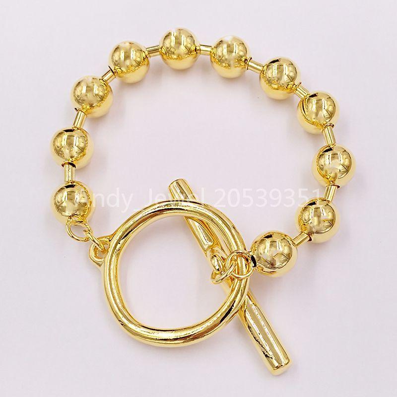 Braccialetto autentico on / off Amicizia Braccialetti Uno de 50 placcato gioielli adatti a regalo in stile europeo PUL1903ORO0