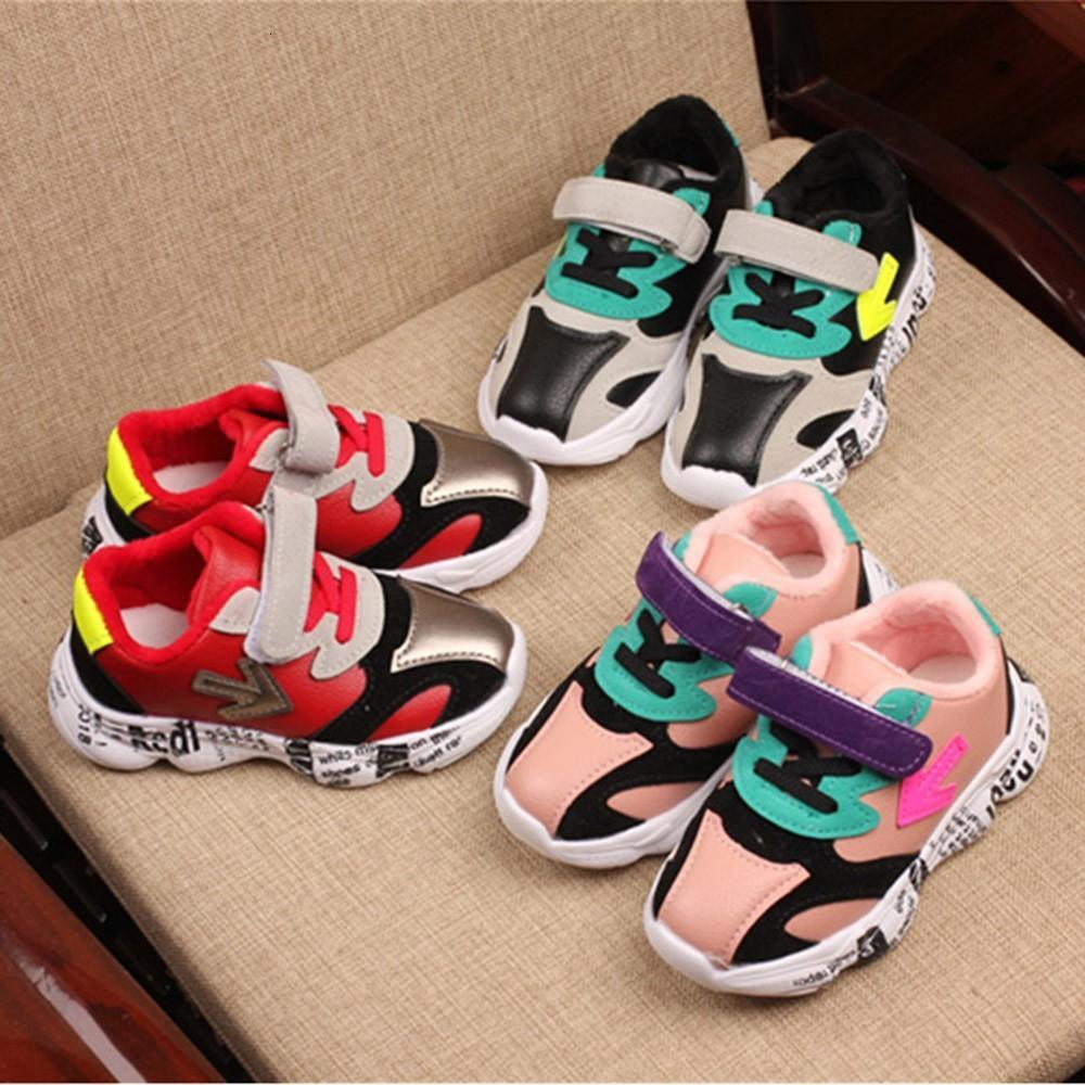 Uomini inverno dei bambini di modo di e casual Freccia Lettere Sport più caldo velluto scarpe da donna Y11.13