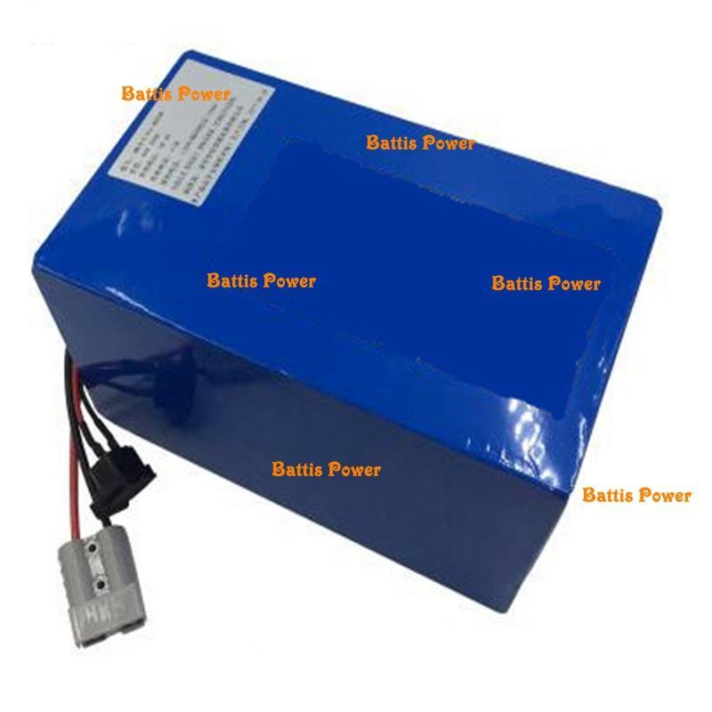 Аккумуляторная 48V 40Ah LiFePO4 аккумуляторная батарея со встроенным BMS для электрического велосипеда электроинструментов велосипеда скутера трехколесных + 5A зарядное устройство