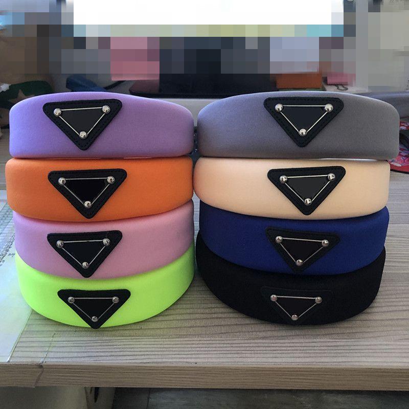 P fasce logo triangolo fascia delle donne Accessori per capelli per le ragazze annodate fascia capa dei capelli della fascia 9 colori
