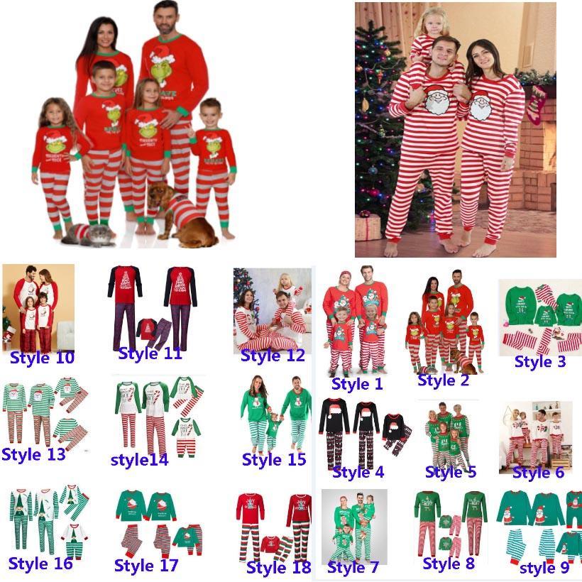 حزب البيجامة مطابقة عيد الميلاد فتى بنات الكبار عائلة عيد الميلاد الغزلان مخطط ملابس نوم ملابس نوم ملابس نوم الأم والطفل HH9-3304