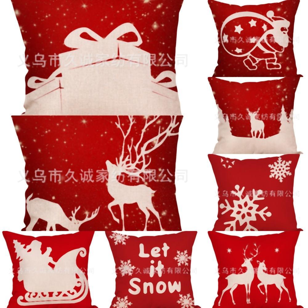 Bolsa kJhCv bolsa de regalos del hotel Decorationss sofá Saco de Santa Bolsa Sacos de Santa Claus Renos lienzo de Santa ciervos con cordón DecorationsStyle Navidad