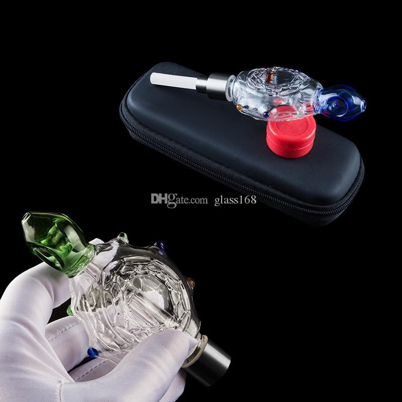 Glass168 NC031 tortuga del estilo pelele Dabber silicio Jar empaqueta el sistema 510 de titanio de cuarzo de uñas de cerámica Dab Rig pipas de vidrio Bong