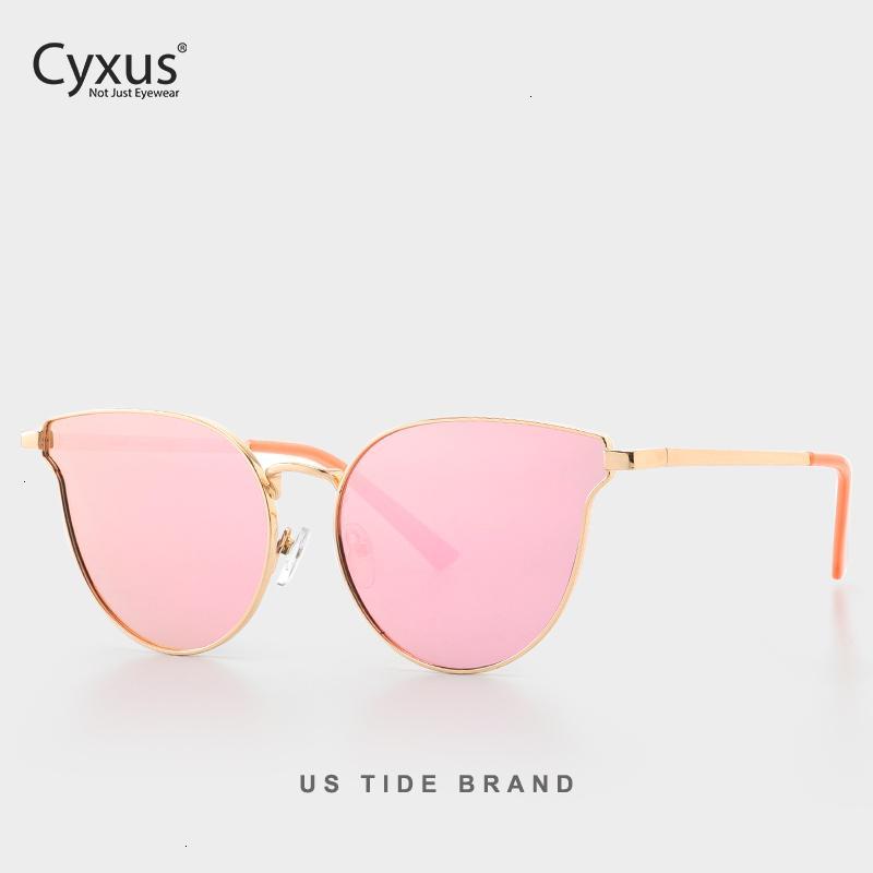 Yeux Lunettes de soleil Polarized Cyxus Chat Femmes UV400 Metal Frame Rétro lunettes pour les filles 1817 CH01