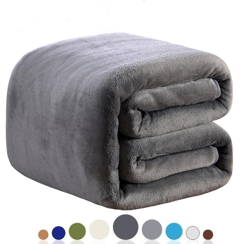 Yeni Moda Süper Katı Sıcak Microplush Peluş Polar Battaniye Kilim Koltuk Yatak Kilim Koltuk Bedding atın
