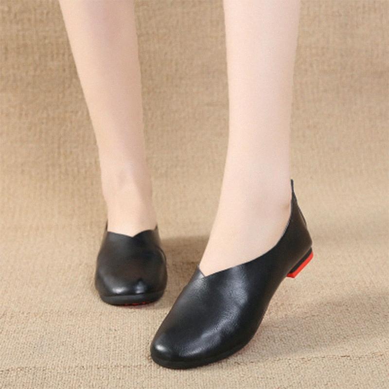 2020 Primavera Mujer Holgazanes Slip Ocasional En mujeres Calzado de mujeres de las señoras Pisos Moda superficiales zapatos cómodos individual + Tamaño BitT #