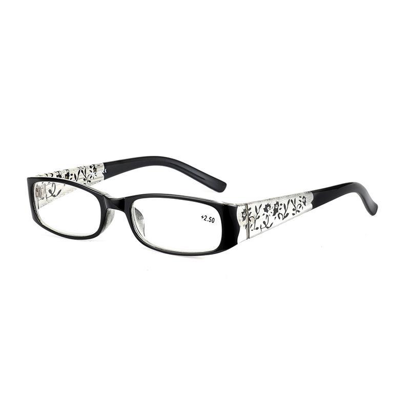 Moda Clásico Venta caliente Lectura de las mujeres Lupa Lupa de tallado Temple Presbyopia Spectacles + 1.0, + 2.0, + 2.5, + 3.0 H5