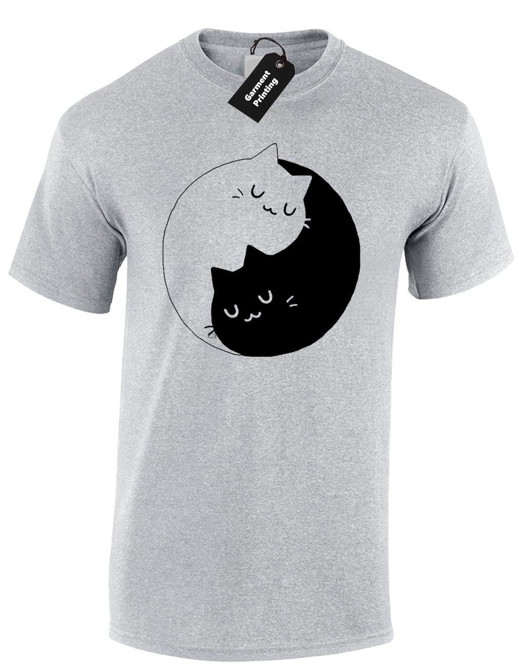 Котята Ying Yang Унисекс футболка Cat Lover Забавный дизайн Top Instagram S - 5xl