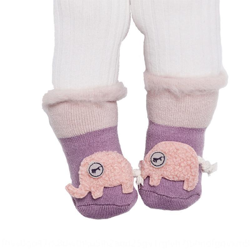 Hiver nouveau sommeil des enfants de dessin animé Terry bébé de velours épais d'hiver nouveau dessin animé chaussettes de sommeil de bébé Terry enfants Doll épaissies Velv