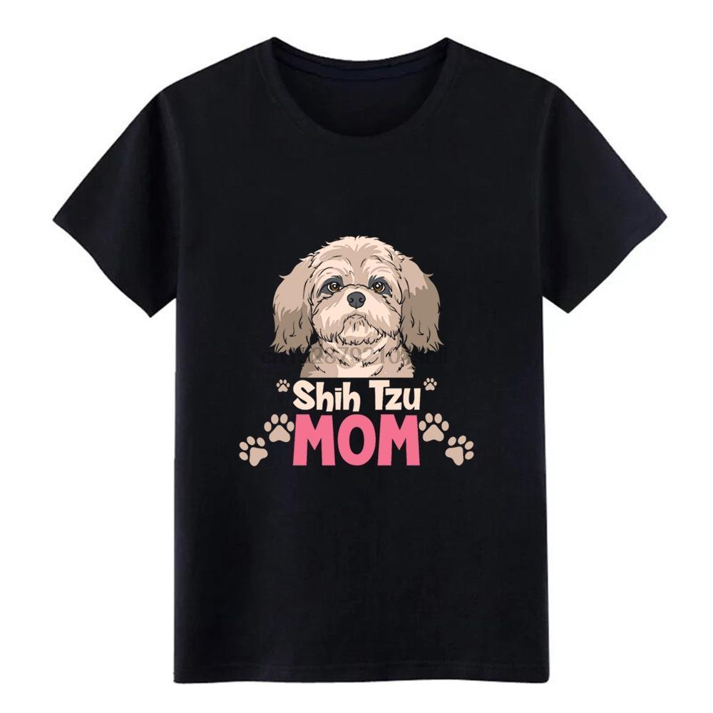 Männer SHIH TZU Shih Tzu Mom T-Shirt Baumwolle S-XXXL Street loses Authentic-Sommer-Art Freizeit-Hemd erstellen