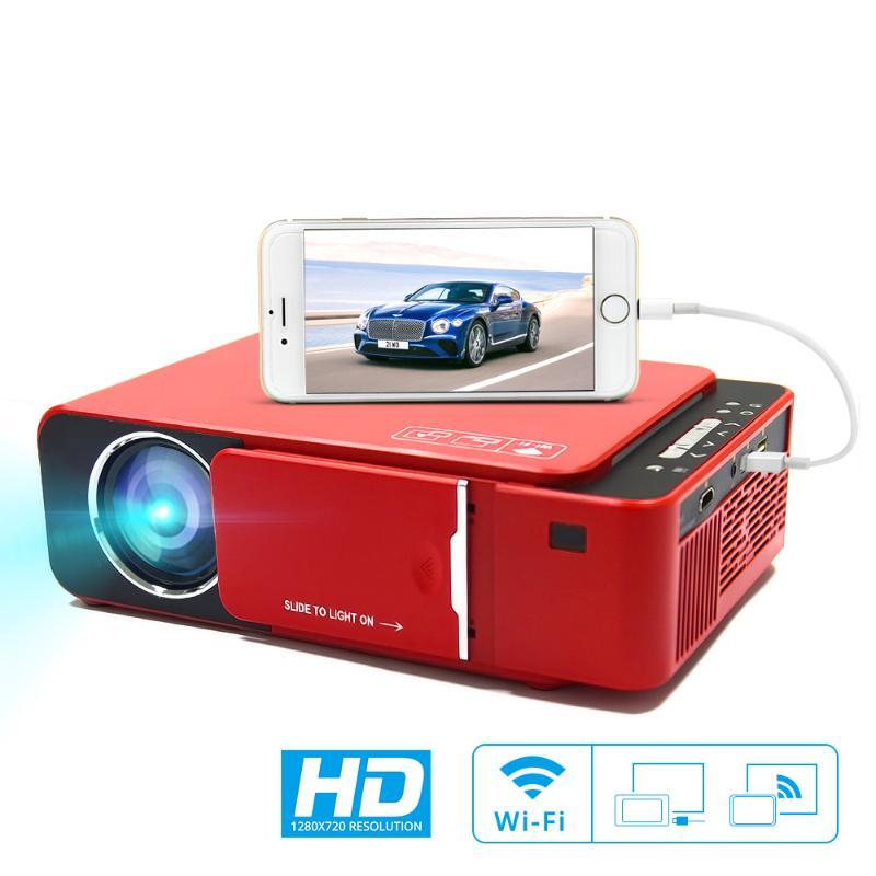 T6 Portable HD LED Projector HDMI ( Android Wifi Optional ) Video Beamer Support 4K Full HD 1080p Home Theater Cinema