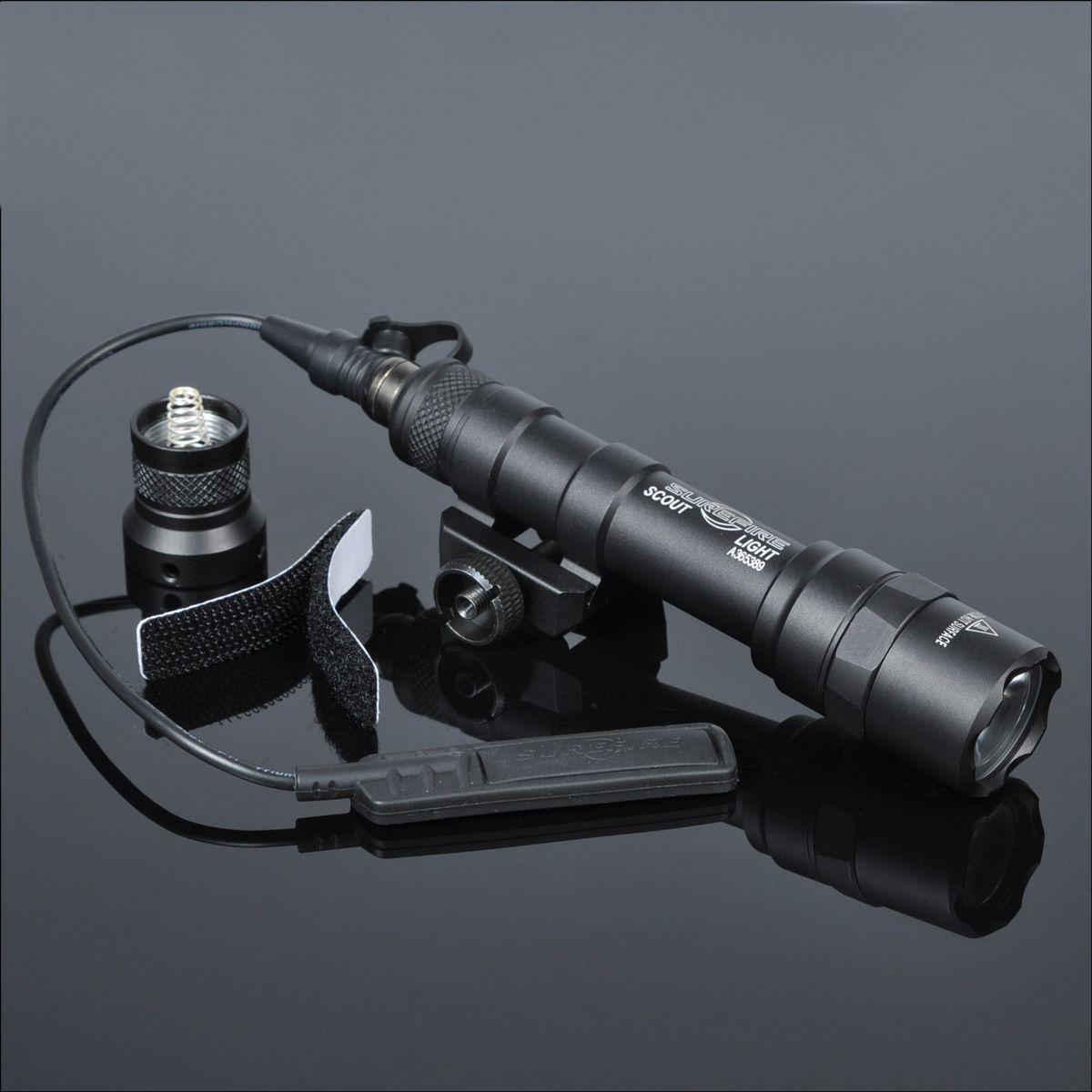 400 Lumens Tactical SF M600B Scout Light Lanterna Airsoft Flashlight Hunting Keymod Picatinny Rail Mount Gun Light