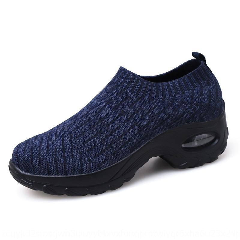 2020 весной модно скольжению на новые женские дышащие кроссовки обувь плоские туфли shoesSports плоские shoesair подушки мягкое дно Досуг Jm8hz