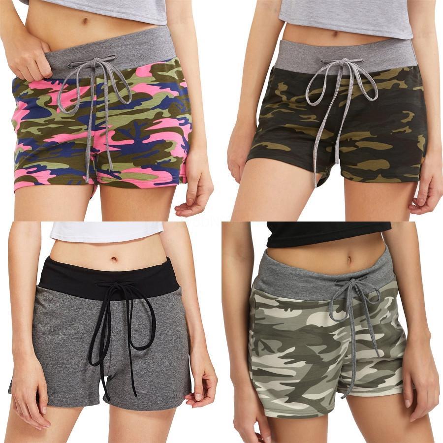 Calças High End Mulheres Meninas Jersey Mini shorts com Carta Padrão Bordados solto Calça de Jogging 2020 Female Fashion Runway Calças Shor # 8441