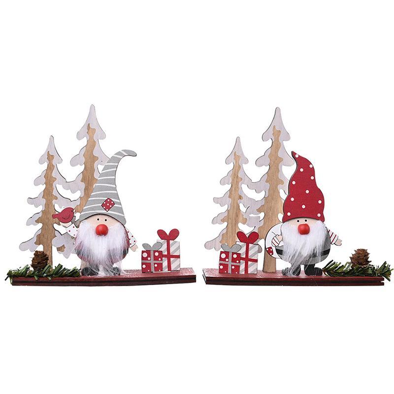 2021 Presentes de madeira Ornamento Feliz Decoração de Natal Para Casa Cristmas árvore Decoração de Natal Navidad Ano Novo