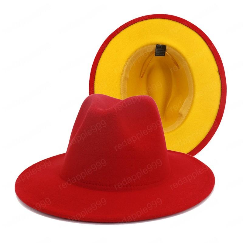 Hot selling item unisex autumn and winter warm fashion fedora hats high quality wide brim british style vintage fedora hats