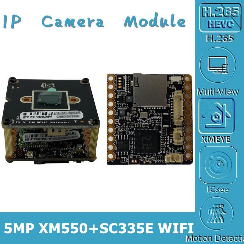 WIFI Wireless 5MP XM550AI + SC335E 2592 * 1944 Модуль камеры IP Board 8-128G SD Card Two-Way Audio CMS XMEYE P2P Cloud RTSP
