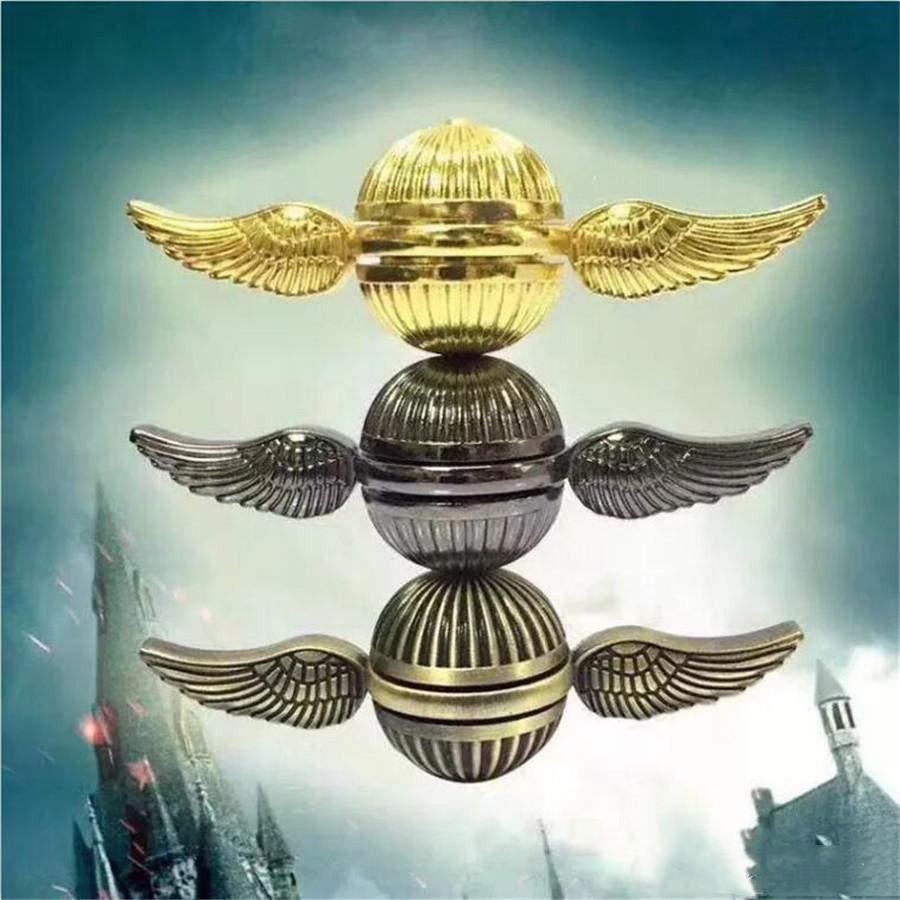Giocattolo Dito Gyro Vendita calda Fidget Spinner Harry Potter Golden Snitch Fidget Spinner Rainbow Metal Copper Cupid Angel Ala Decompressione