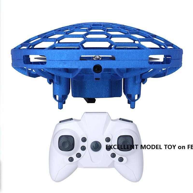 FLX-Fernbedienung UFO-Spielzeug, Geste Sensing interaktiver Drohne, Höhe halten Quadkopter, UAV mit bunten Lichtern, Weihnachtskind-Geburtstagsgeschenk, 3-3