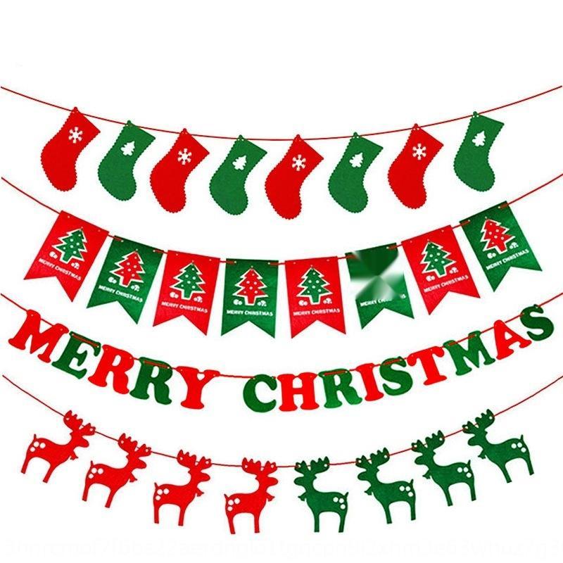 Weihnachtsstoff Blume hängenden Zug Non-Woven-nicht-wovenPull Flagge Vlies Flagge Einkaufszentrum Ladenlayout Atmosphäre dekorative Lieferungen f