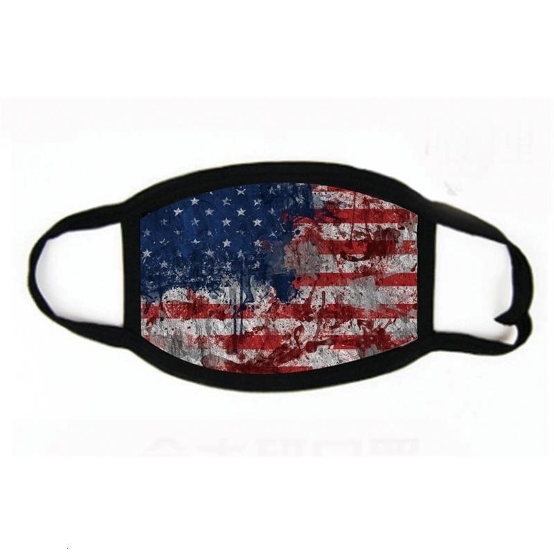 Мужчины Маска 18styles Ткань лицо Хлопок Анти-пыль женщина Trump 2020 Унисекс Мода зима Теплого черный флаг США Маска Gga3546 # 850