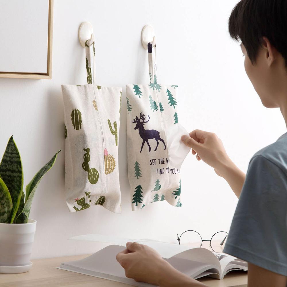 New Tissue Box hängend Serviette-Halter-Kasten Küche Wohnzimmer Seidenpapier-Kasten-Halter-Kasten-Behälter Dekorative
