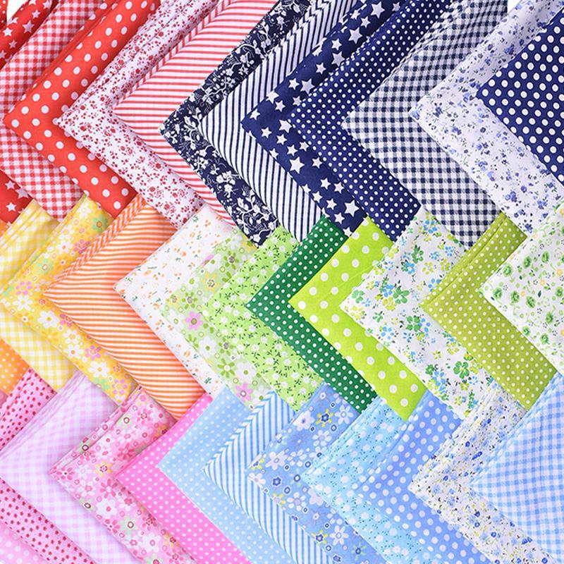 50 * 50см смешивание цветов набивных тканей 7шт / набор Хлопок лоскутные детей Ткани для поделок рукоделия Аксессуары ручной работы