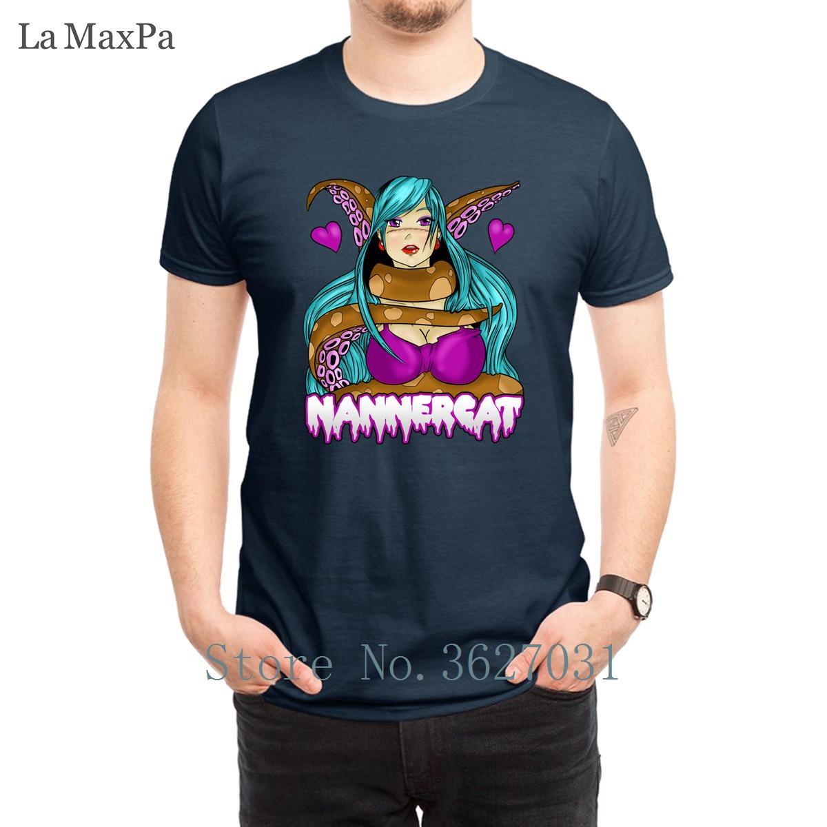 Design-Neuheit-Männer-T-Shirts Nannercat Hentai-Männer-T-Shirt Quirky 2018-T-Shirt Mann Bequeme Baumwolle Hiphop Tops