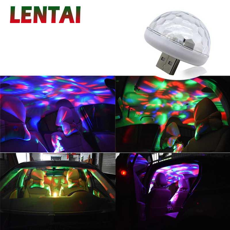 LENTAI Для ASTRA H J г знаков VECTRA C Corsa d Zafira б Ssangyong Infiniti 1PC LED автомобиля USB Atmosphere света Красочные лампы