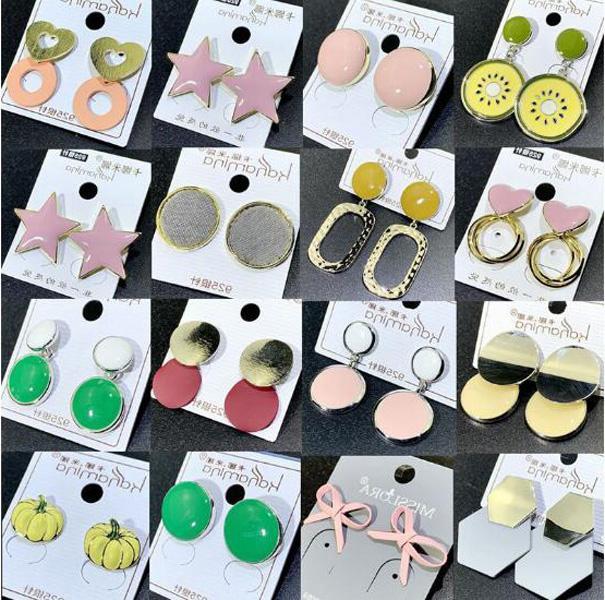 10pairs / lot Mix Style Fashion Boucles d'oreilles Clou pour Craft cadeau Bijoux Boucles d'oreilles EA39 * Livraison gratuite