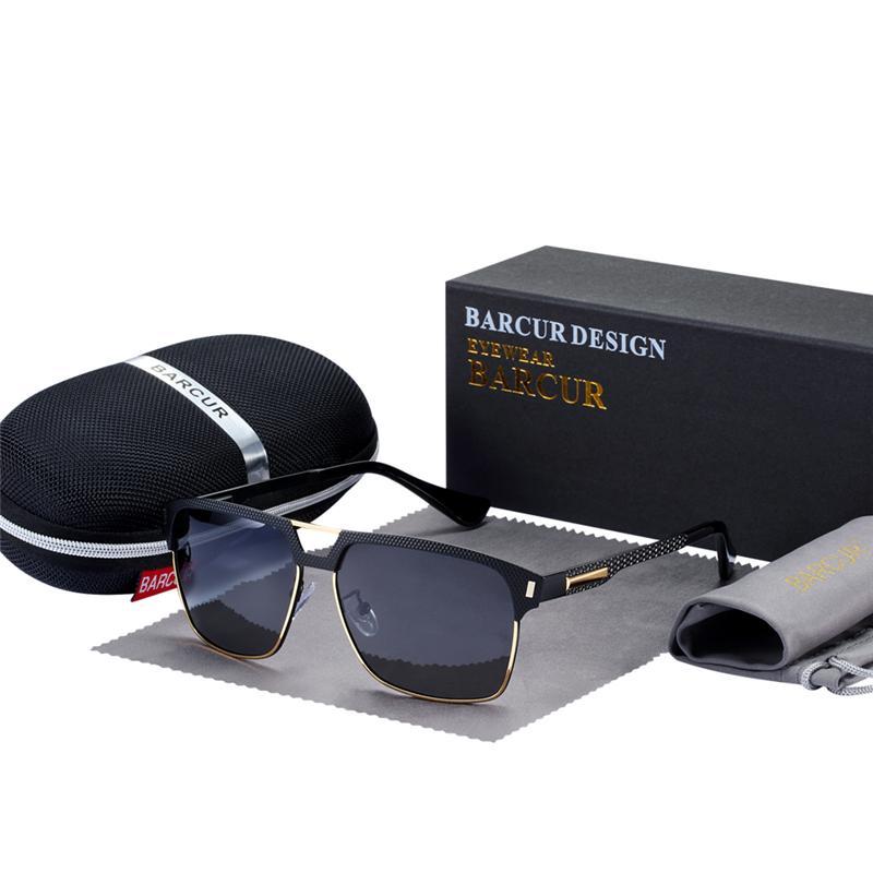 Очки черные мужчины оттенки с поляризованным барсуром с высоким вождением Солнцезащитные очки человека для качества HD очки VOQVJ