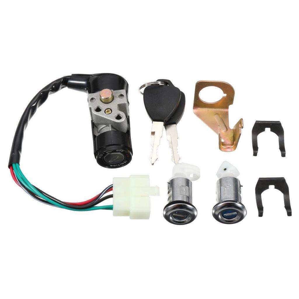 Interruptor de encendido Cap cilindro de la cerradura llaves Conjunto de Vespa 150cc GY6 50cc
