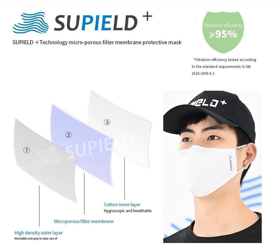 20 Supield + Reutilização Nano lavagem da cara tempos individuais Pac Boca máscara de protecção à prova de pó Máscaras antibacteriano algodão PM 2,5 Válvula