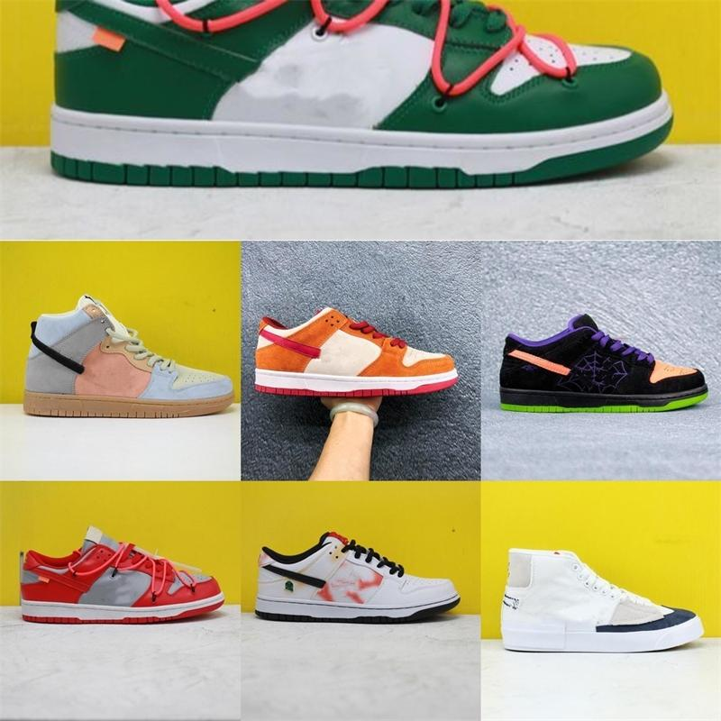 2020SS neue Farbe Schuhe für Männer Frauen Dunk SB Turnschuhe weiß grün gelb Jugend niedrig hoch Schüler laufen legerem Luxus FICL T19L