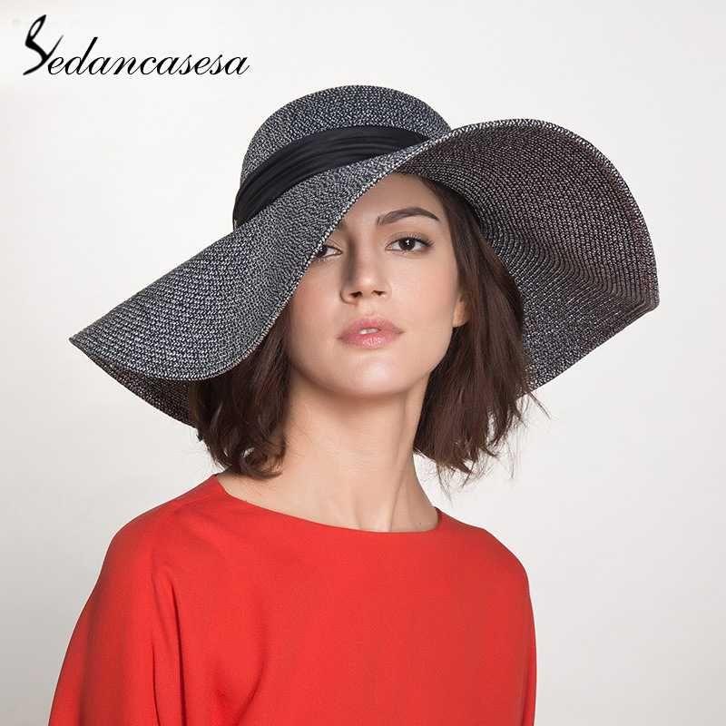 Wide Brim Hats Sedancasesa Fashion Floppy Summer Women Hat Visors Cap Foldable Big Fishing Beach Girls Caps Femme Large Brimmed