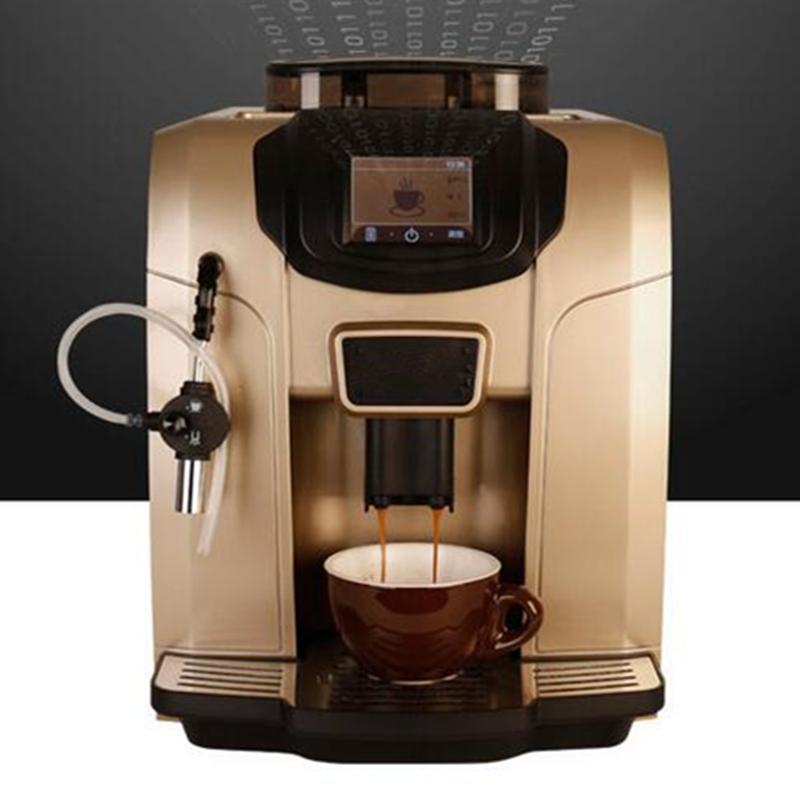 Couleur or Un contact système de chauffage Commerical cappuccino / café au lait entièrement moulin machine à café automatique LCD 20 bar fabricant