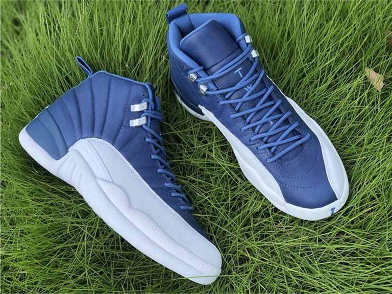 2020 Новый 12 Камень Индиго Dark Concord Обратный грипп Игра ОВО Баскетбольные Обувь 12S Playoff Французская Обувь Indigo