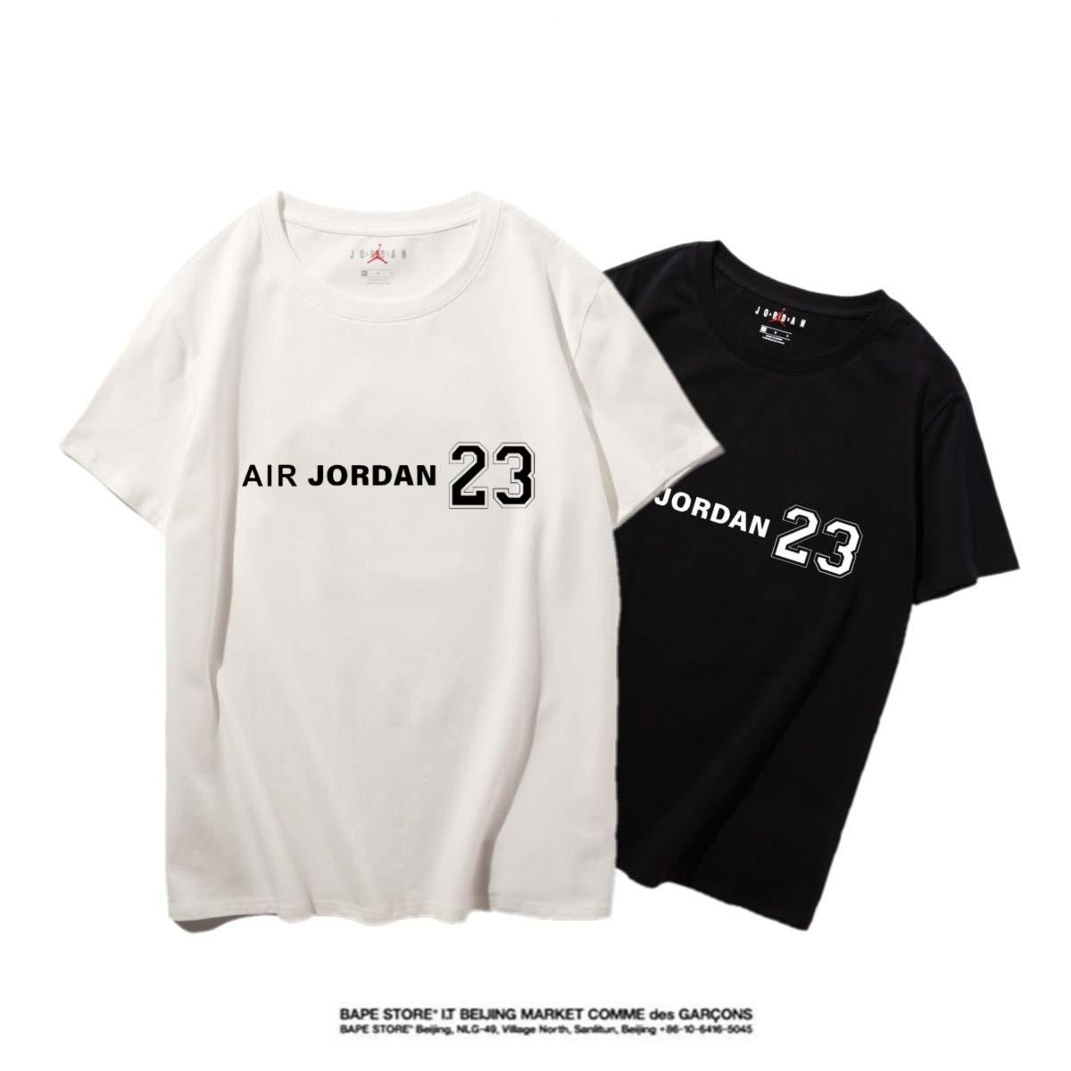 Jordan Hohe Qualität Neuer Brief Printing Short Sleeve Mode Aufmaß Cotton Hip Hop-Männer Frauen Paar Designer-T-Shirt S-XXL # 78782