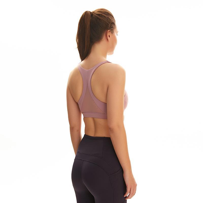 Sports Bra Bralette Cortar Tops Mulheres Yoga Gym ativa que funciona Atlético Push Up Walking Pad Wear acolchoado Top Underwear sutiãs mvsyo