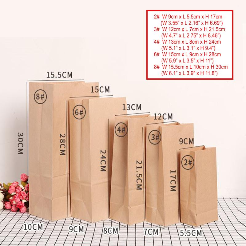 Amais paper bag Brown Kraft Paper bag Gift Bags packing Biscuits candy Food bread Cookie Bread Nuts Snack Baking Package
